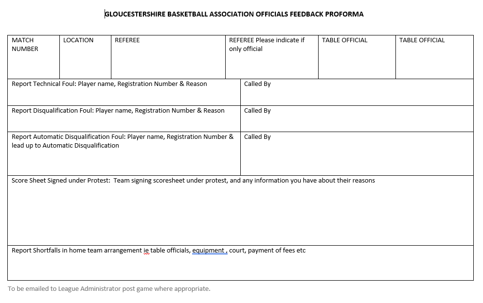 Referee Assessment Form